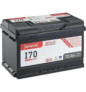 Accurat Impulse I70 Autobatterie 70Ah EFB Start-Stop
