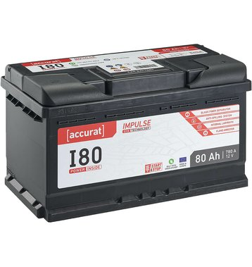 Accurat Impulse I80 Autobatterie 80Ah EFB Start-Stop