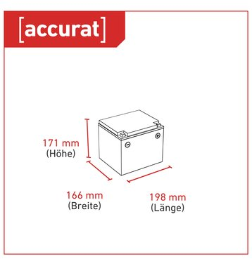 Accurat Supply S43 AGM Bleiakku 43 Ah