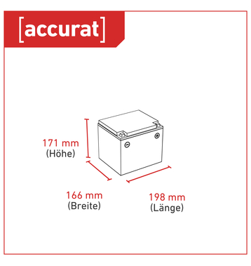 Accurat Supply S50 AGM Bleiakku 50 Ah