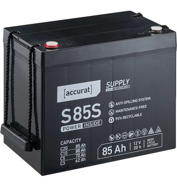 Accurat Supply S85s AGM Bleiakku 85 Ah