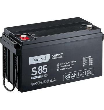 Accurat Supply S85 AGM Bleiakku 85 Ah