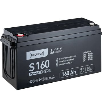 Accurat Supply S160 AGM Bleiakku 160 Ah