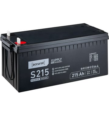 Accurat Supply S215 AGM Bleiakku 215 Ah