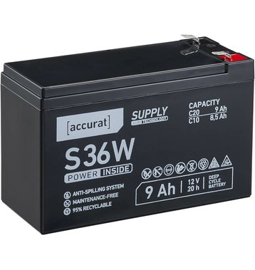 Accurat Supply S36W AGM Bleiakku 9 Ah