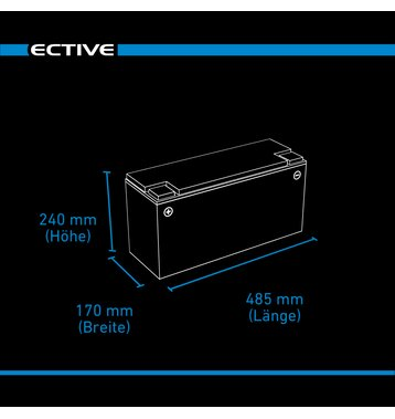 ECTIVE LC 150L 12V LiFePO4 Lithium Versorgungsbatterie 150 Ah