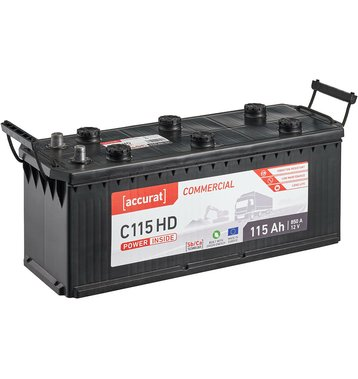 Accurat Commercial C115 HD LKW-Batterie 115Ah
