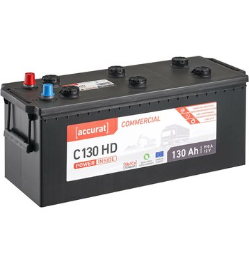 Accurat Commercial C130 HD LKW-Batterie 130Ah