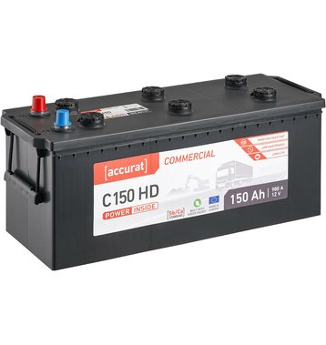 Accurat Commercial C150 HD LKW-Batterie 150Ah