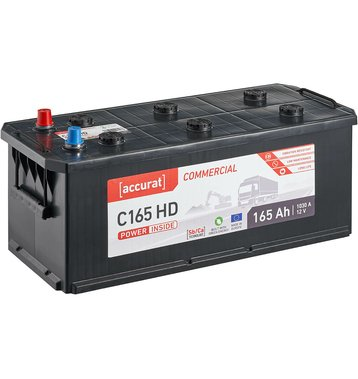 Accurat Commercial C165 HD LKW-Batterie 165Ah