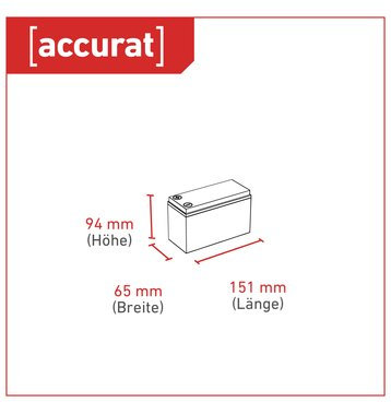 Accurat Traction T6 LFP 12V LiFePO4 Lithium Versorgungsbatterie 6 Ah