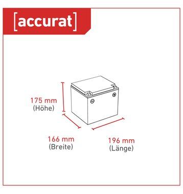 Accurat Traction T42 LFP 12V LiFePO4 Lithium Versorgungsbatterie 42 Ah