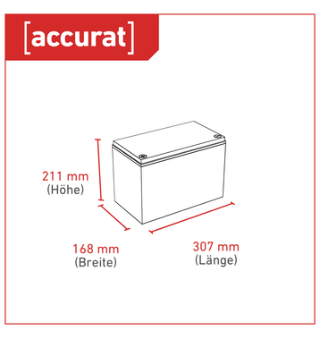 Accurat Traction T90 LFP 12V LiFePO4 Lithium Versorgungsbatterie 90 Ah
