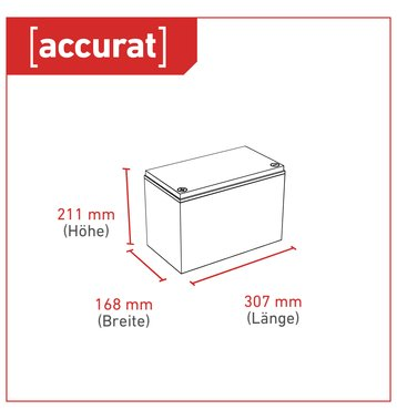 Accurat Traction T100 LFP 12V LiFePO4 Lithium Versorgungsbatterie 100 Ah