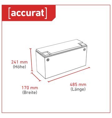 Accurat Traction T150 LFP 12V LiFePO4 Lithium Versorgungsbatterie 150 Ah