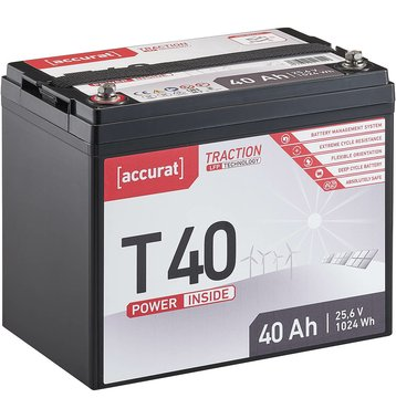 Accurat Traction T40 LFP 24V LiFePO4 Lithium...