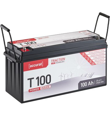 Accurat Traction T100 LFP 24V LiFePO4 Lithium Versorgungsbatterie 100 Ah