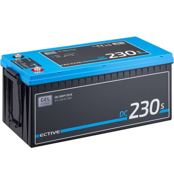 ECTIVE DC 230S GEL Deep Cycle mit LCD-Anzeige 230Ah...