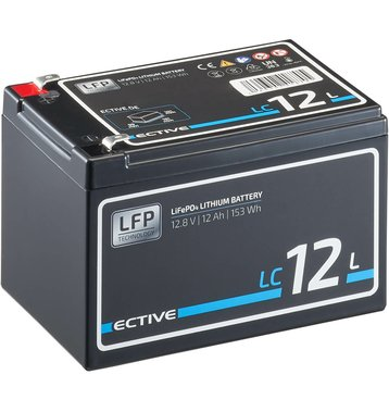 ECTIVE LC 12L 12V LiFePO4 Lithium Versorgungsbatterie 12Ah