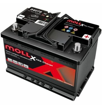 MOLL X-TraCharge 75Ah Autobatterie 84075